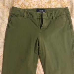Old Navy Army Green Pixie Pants